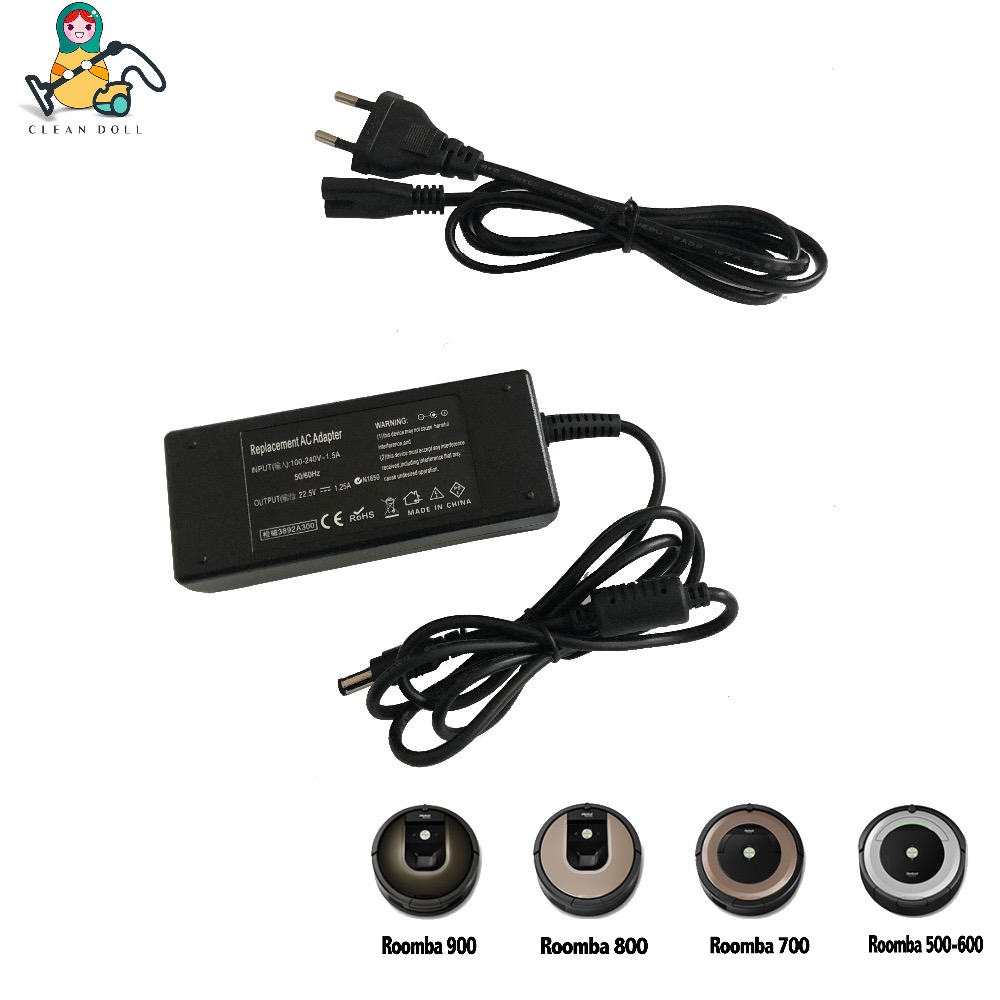 CLEAN DOLL Replacement power adapter charger 17063 10556 for iRobot Roomba 400 500 650 780 880 980 power adapter charger