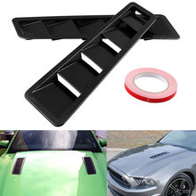 2Pcs Universal Mobil Hood Air Intake Panel ABS Ventilasi Modifikasi Aliran Udara Asupan Hood Self-Adhesive Louver Window pendingin Panel(China)