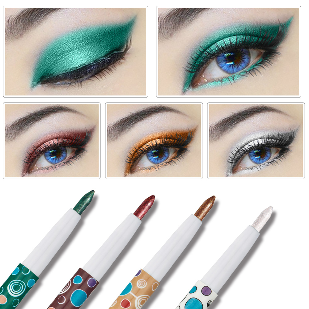 HUAMIANLI Brand Shimmer Matte Eye Shadow Pen Pigment Smoked Glitter Eyeshadow Pencil Eye Liner Pen Makeup 10 colors options