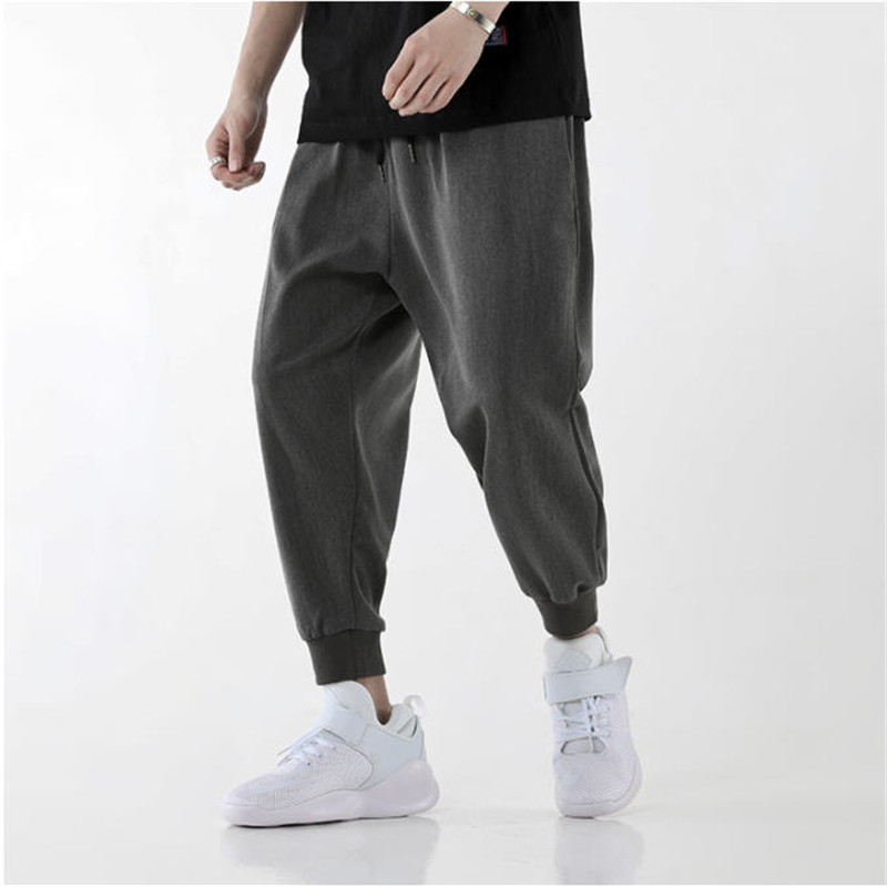 2019 Spring Men Casual Harem Pants Solid Men's Loose High Street Casual Pants Mens Hip Hop Fashions Joggers Streetwear DS50306
