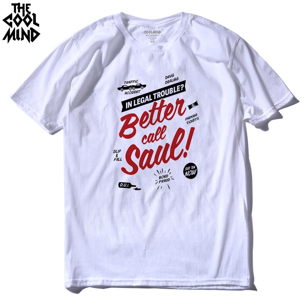 Camiseta de algodón COOLMIND BE0212A Better Call Saulo para hombres camiseta Los Pollos gemelos de manga corta Casual cuello redondo Camisetas Camiseta de moda