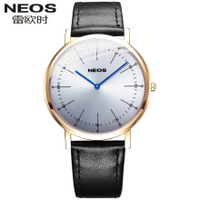 NEOS Men's Quartz Waterproof Watch Genuine Belt Casual Fashion Ultra-thin Watch Hot Sale Buckle