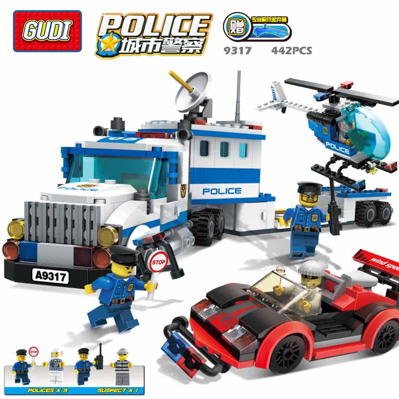 GUDI Police To Track Suspect The Culprits Educational Blocks Fight Inserted Building Blocks Assembled Toys puzzle toy building blocks assembled fight inserted toys