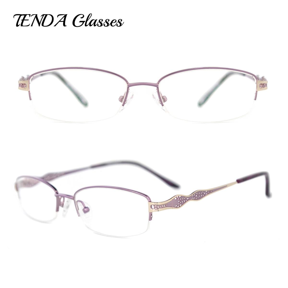 ヾ(^▽^)ノDiseñador de moda ojo Gafas mujeres gafas metal medio ...