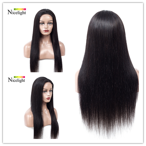 Frontal Wig Lace Front Human Hair Wigs Straight Nicelight Malaysian Hair Long Straight Lace Front Wig Natural Hairline 8-24Inch