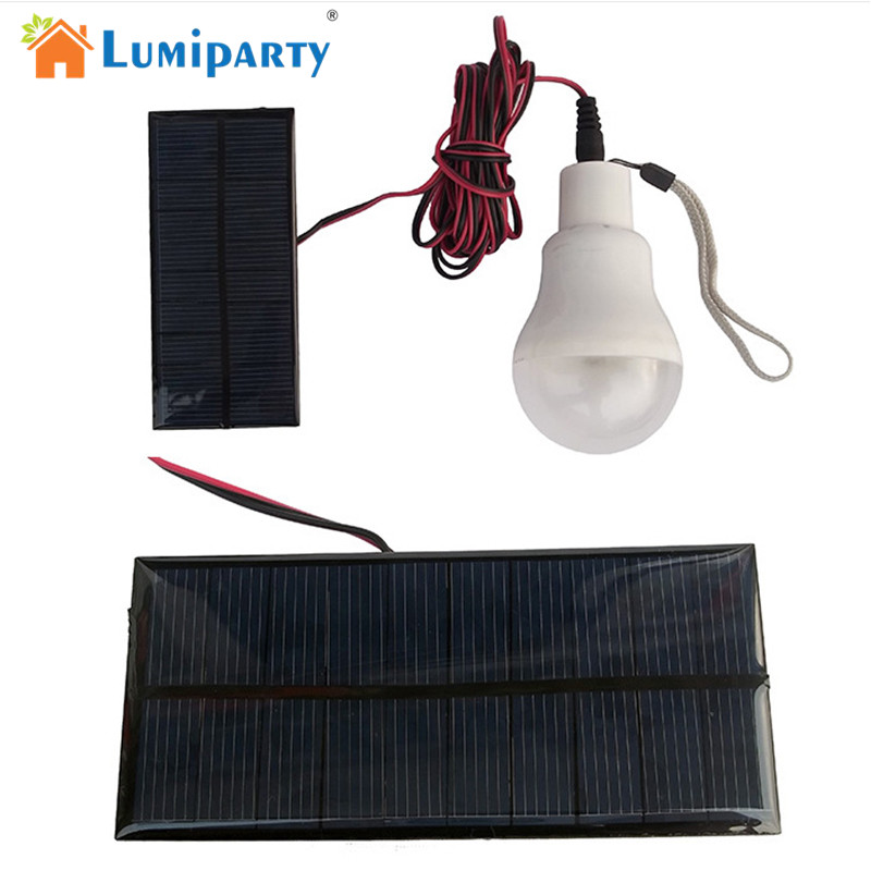 LumiParty Portable Solar Lamp Powered Led Bulb Light Solar Energy Lamp Led Lighting Solar Panel Outdoor Camp Tent Night Fishing