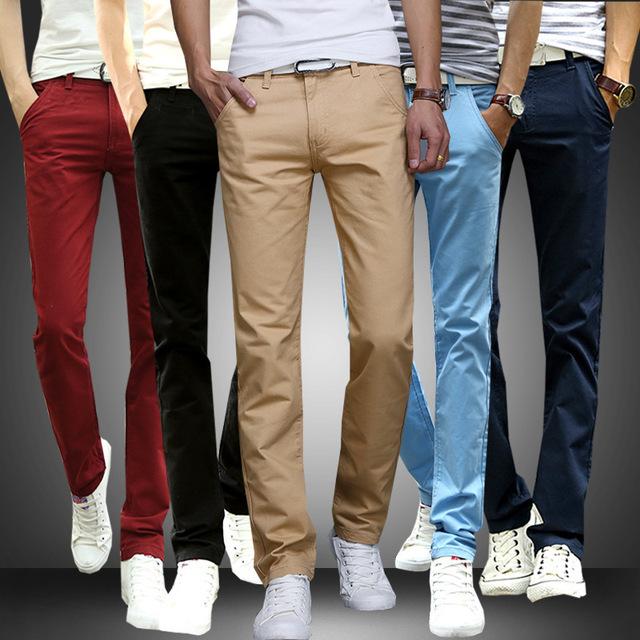 Venda quente moda masculina business casual ou calças verão outono homens calças dos homens slim fit calças multicolor plus size 28-38