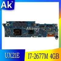 Ak UX21E Laptop Moederbord Voor For Asus UX21E UX21 Test Originele Moederbord 4G Ram I7-2677M