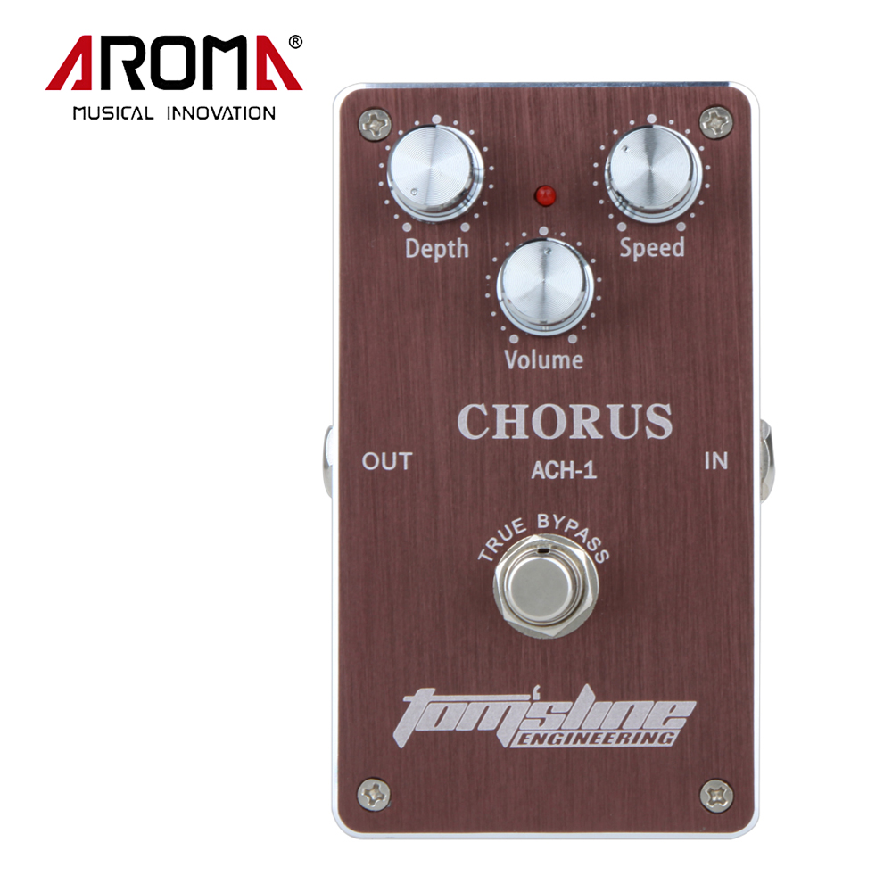 AROMA ACH-1 Guitar Chorus Low Noise Electric Effect Pedal True Bypass Guitar Accessories light weight aroma ach 3 mini chorus electric guitar effect pedal guitar parts and accessories