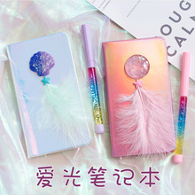 Kawaii Walking The Dog Notebook Cartoon DIY Mini Notebook Diary Sea Shell Girl's Blank Inner Page Diary Book Student Kids Gift
