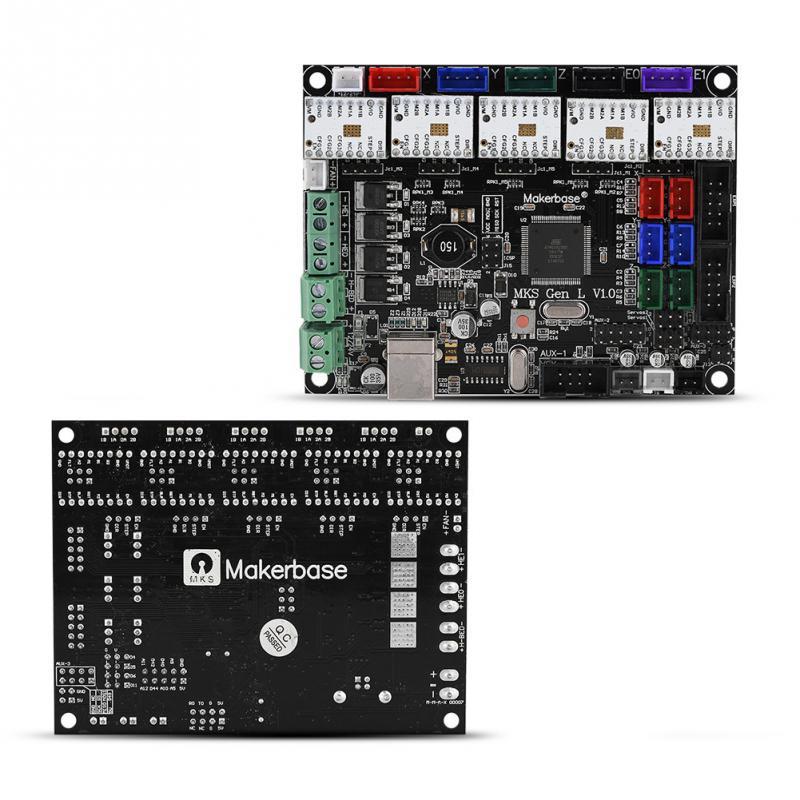1 Set Stepper Motor Driver MKS-Gen L V1.0 Motherboard Control board & TMC2100 for 3D Printer vakind mks gen v1 0 3d printer control board 5pcs tmc2100v1 3 stepper motor driver for 3d printer parts