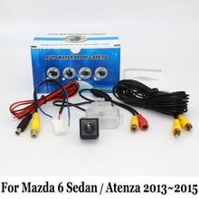 Камера Заднего вида Для Mazda 6 Mazda6 Sedan/Atenza 2013 ~ 2015/RCA Проводной Или Беспроводной/Широкоугольный Объектив/CCD Ночного Видения камера