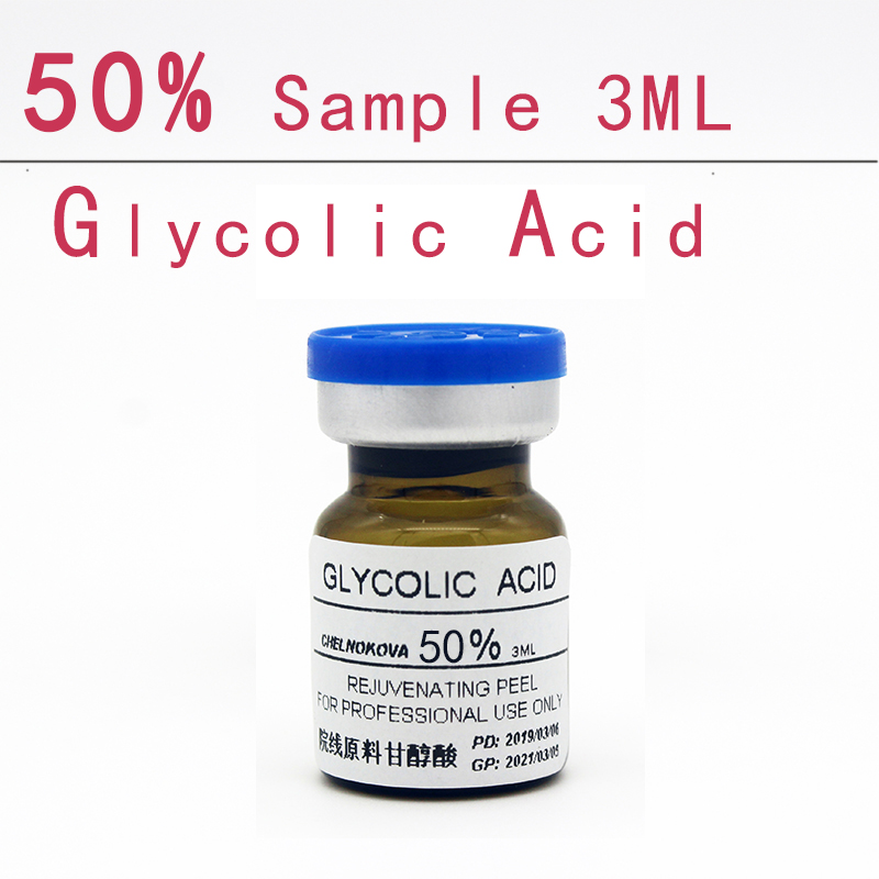 Glycolic Acid 50% Sample 3ml Aha Skin Peeler Acid Peeling Remove Acne Pockmark Peeling Treatment