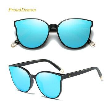 6d391a0ea0 2018 Fashion Women Colour Luxury Flat Top Cat Eye Sunglasses Elegant oculos  de sol men Twin Beam oversized Sun glasses UV400 – Shoponik