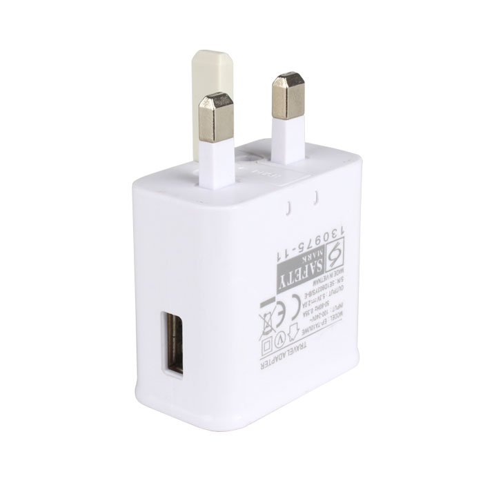 One USB Port UK Plug Charger,5.3V,2A Output Electric Power Adapter,Used for iPhone,iPad,Samsung & Other Mobile Phones,Tablet PCs