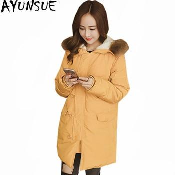 AYUNSUE Plus Size 5XL Parka 2020 Warm Winter Jacket Women Padded Cotton Coat Female Fur Collar Long Parkas Chaqueta Mujer WXF504