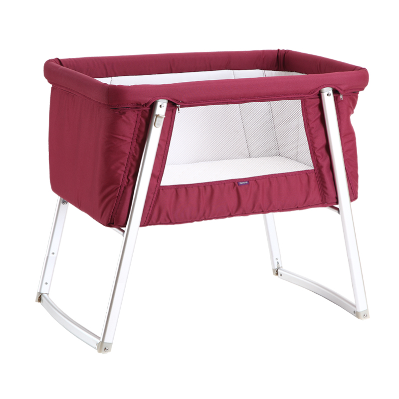 bed without environmental alloy game protection end crib cribs foldable high adjustable aluminum bb height formaldehyde item