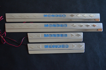 Stainless Steel Blue LED Door Sill Scuff Plate Protected For Ford Mondeo 2000-2007 2006 MK1