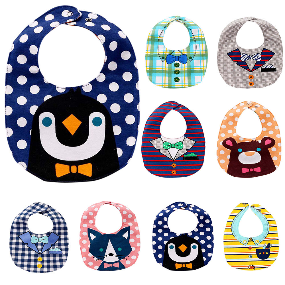Baby Kids Saliva Bibs Toddler Boys And Girls Cartoon Print Pinafore Baby Feeding Wear Saliva Towel New Arrival #20