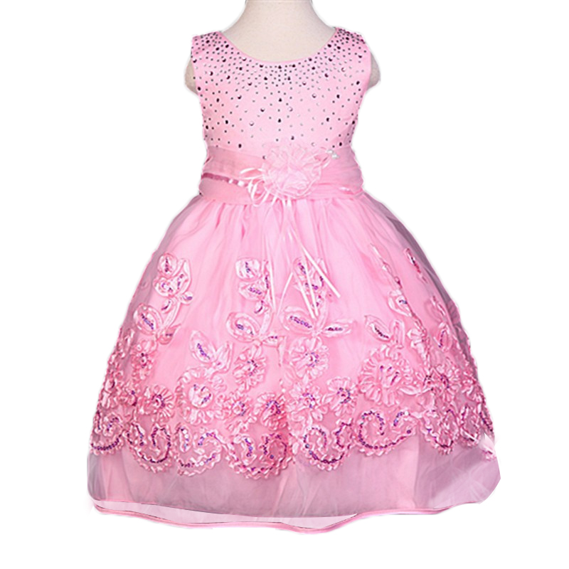 New 2017 Summer girl dress princess Party girls dresses,Kids girls clothes,Sequins vestido infantil,Children Clothing