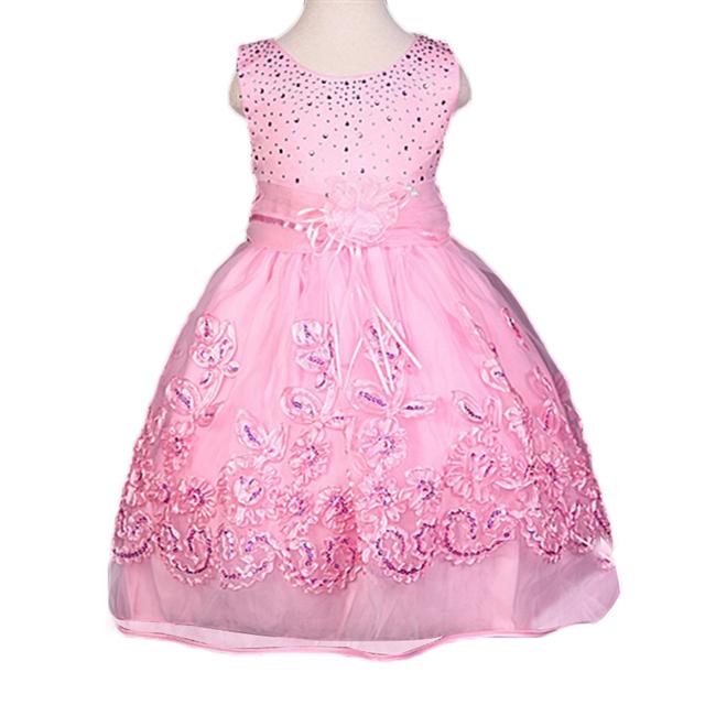 Novo 2017 garota Verão vestido de Festa da princesa vestidos de meninas, Crianças roupas das meninas, Lantejoulas vestido infantil, Roupa Das Crianças