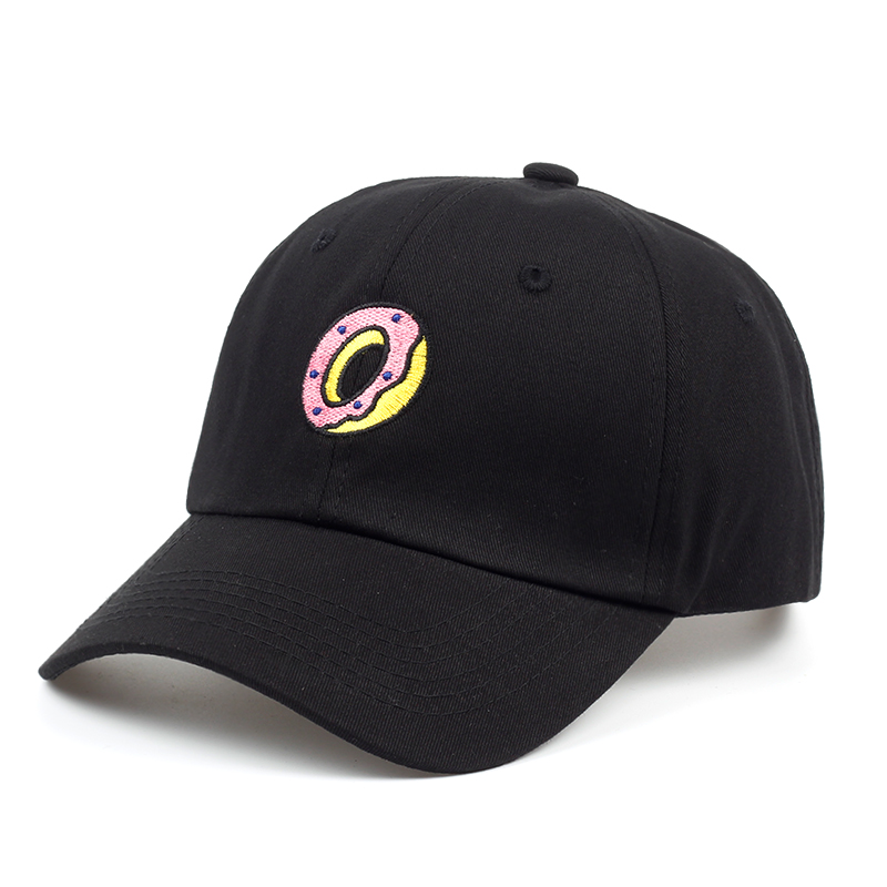 new DONUT Dad Hat Embroidered   Caps   cotton Style   Baseball     cap   brand Hip hop snapback   cap   hats bone garros