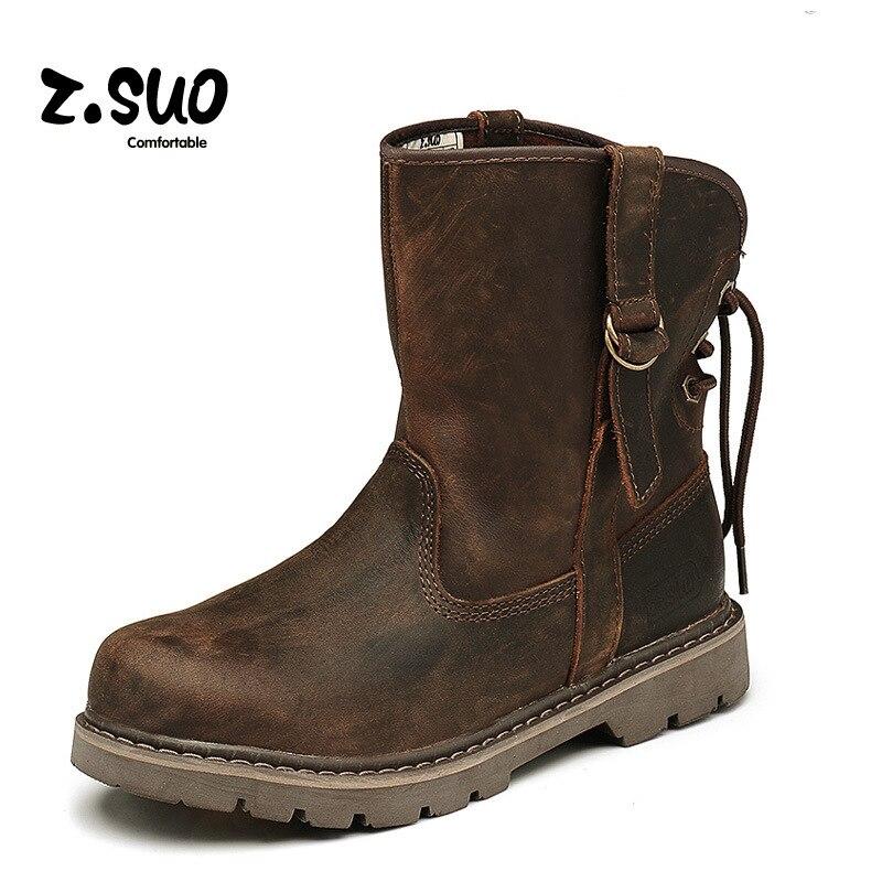 Classique amoureux bottes hommes et femmes dans les bottes en cuir personnalité femmes bottes mode tendance chaussures pour femmes ZS992N