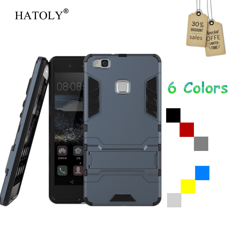 Untuk Huawei P9 lite Kasus Karet Robot Armor Shell Keras PC Phone Cover untuk Huawei P9 lite Pelindung Kasus untuk Huawei P9 lite 2016