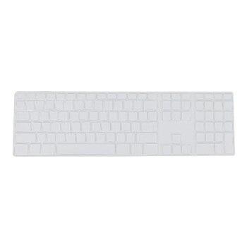 Силиконовый тонкий защитный чехол для клавиатуры с цифровой клавиатурой для Apple iMac, прозрачный