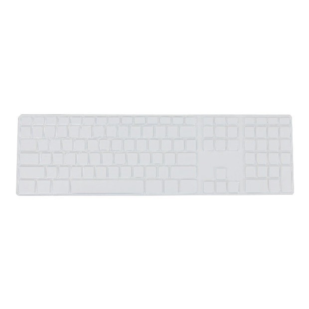 Silicone Thin Keyboard Skin Cover Protector With Numeric Keypad For Apple IMac Transparent