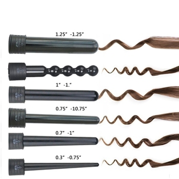 1pc Hair Curler Head Makeup Maquiagem Hair Curl Black Pink LED Heating Elements 1