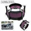 Motocicleta Filtro de Aire Venturi Velocidad 5 Para Harley Sportster XL 883 1200 2004-2015