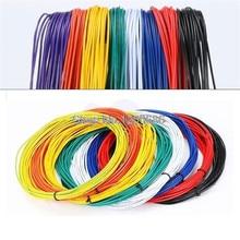UL 1007 24AWG 10 метров/лот супер гибкий 11/0. 12TS 24AWG 24 ПВХ изолированный провод электрический кабель светодиодный кабель