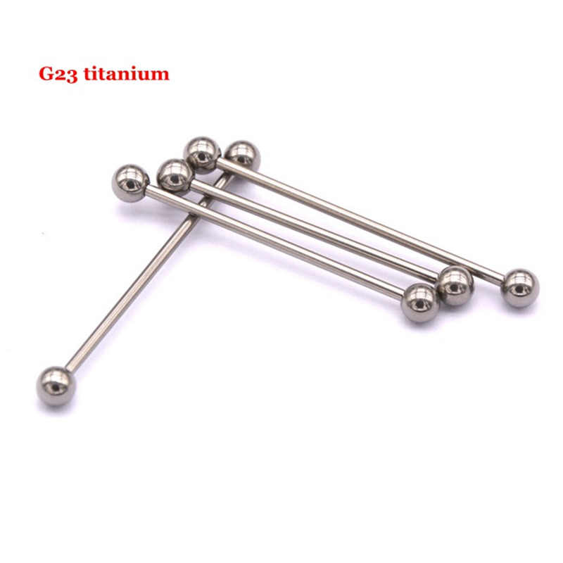 G23titan 14G G23 titanio Vertical Industrial Piercing plata Barbell oreja Piercing joyería SGS certificación