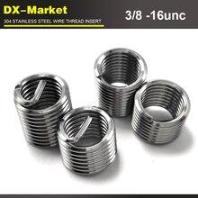 3/8-16unc x1D, 100 шт, 304 нержавеющая сталь 3/8 unc резьбовые вставки, sus304 крепеж для ремонта проволочной резьбы