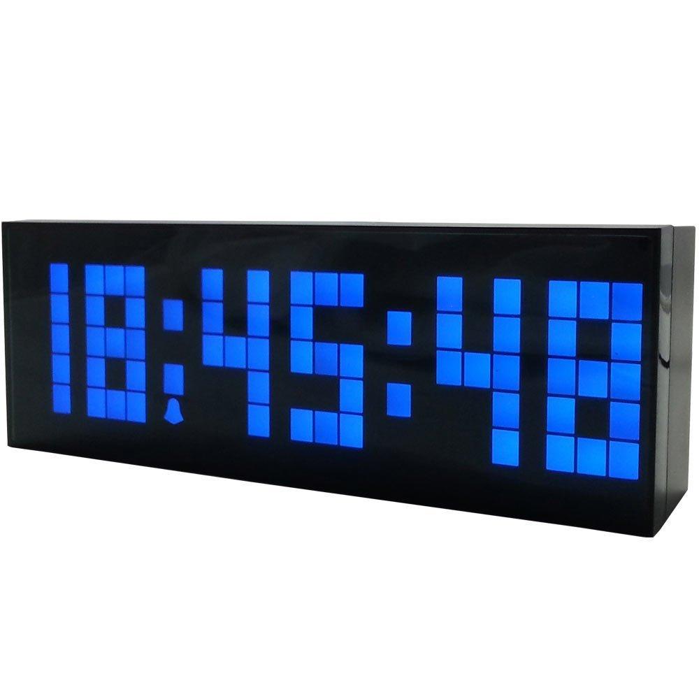 Niebieska dioda LED odliczający zegar cyfrowy z funkcją drzemki - Wystrój domu - Zdjęcie 2
