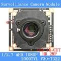 2MP 1920*1080 Placa de Circuito do Módulo Da Câmera AHD 1080 P 2000TVL 1/2. 7 CMOS V30 + T322 PCB Board + HD IR-CUT interruptor dual-filtro