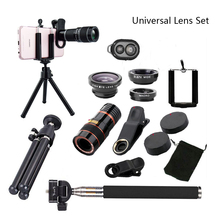 Все в 1 аксессуары телефон Камера Объектив Топ Travel Kit для iPhone 8X7 6 Plus samsung galaxy S9 htc для XIAOMI HUAWEI мобильных телефонов