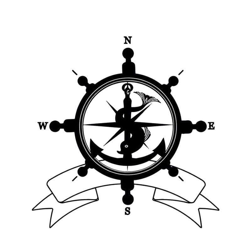 Best Price 17 5cm18cm Nswe Fashion Sea Helm Flag Symbol Anchor