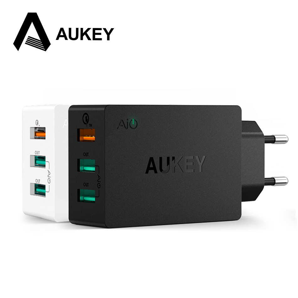 AUKEY Charge Rapide 2.0 USB Mur Chargeur 3 Port Smart rapide Turbo Chargeur Mobile Pour iPhone7 Samsung Galaxy s6 Bord Xiaomi