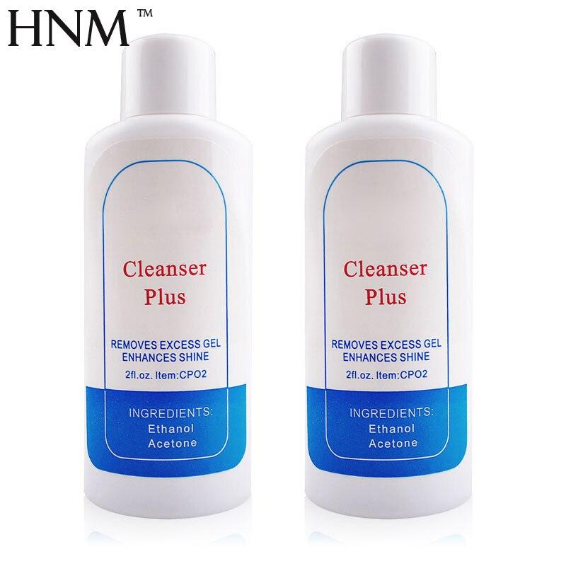 HNM 2 шт. жидкость для снятия гель Лаки здоровый Cleanser Plus УФ-гель для подпиливания ногтей Клей акриловый жидкости 60 мл Лак для ногтей для удален...