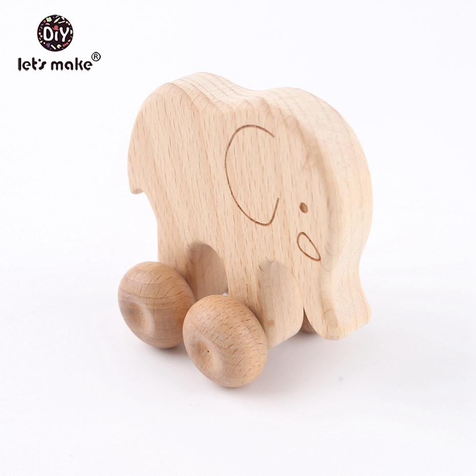 Let s make Beech Wooden Animals 10pcs Dogs Car Cartoon Eleohant Montessori Toys For Children Teething