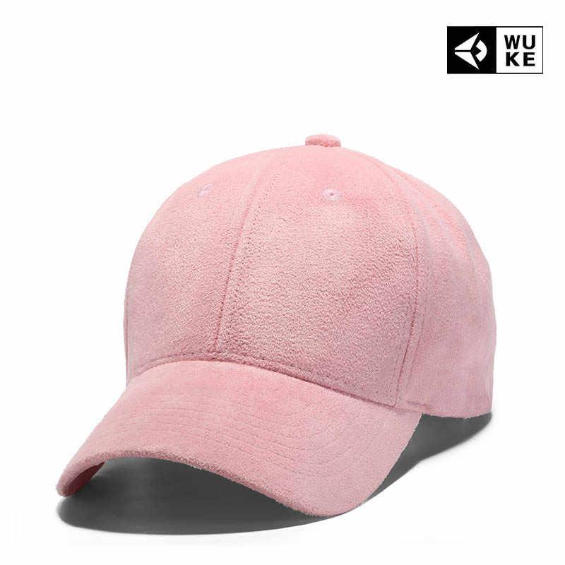 30dc733c6de 2018 Pink Black Cap Solid Color Baseball Snapback Caps Suede Casquette Hats  Fitted Casual Gorras Hip