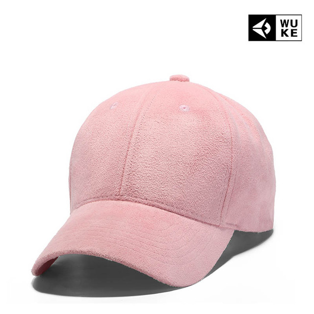 8fd404961ef 2018 Pink Black Cap Solid Color Baseball Snapback Caps Suede Casquette Hats  Fitted Casual Gorras Hip Hop Dad Hats Women Unisex
