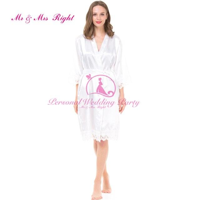 """DIY Слова """"невеста"""" персонализированные Атласные Халаты 4 Цвет Solid Платье Невесты Пижамы Кимоно Халат Женщины Люкс Шелковый Халат"""