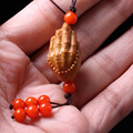 Chinese Traditional olive nut Carved Bergamot  worry beads charm bracelet Beaded Keychain a unique gift