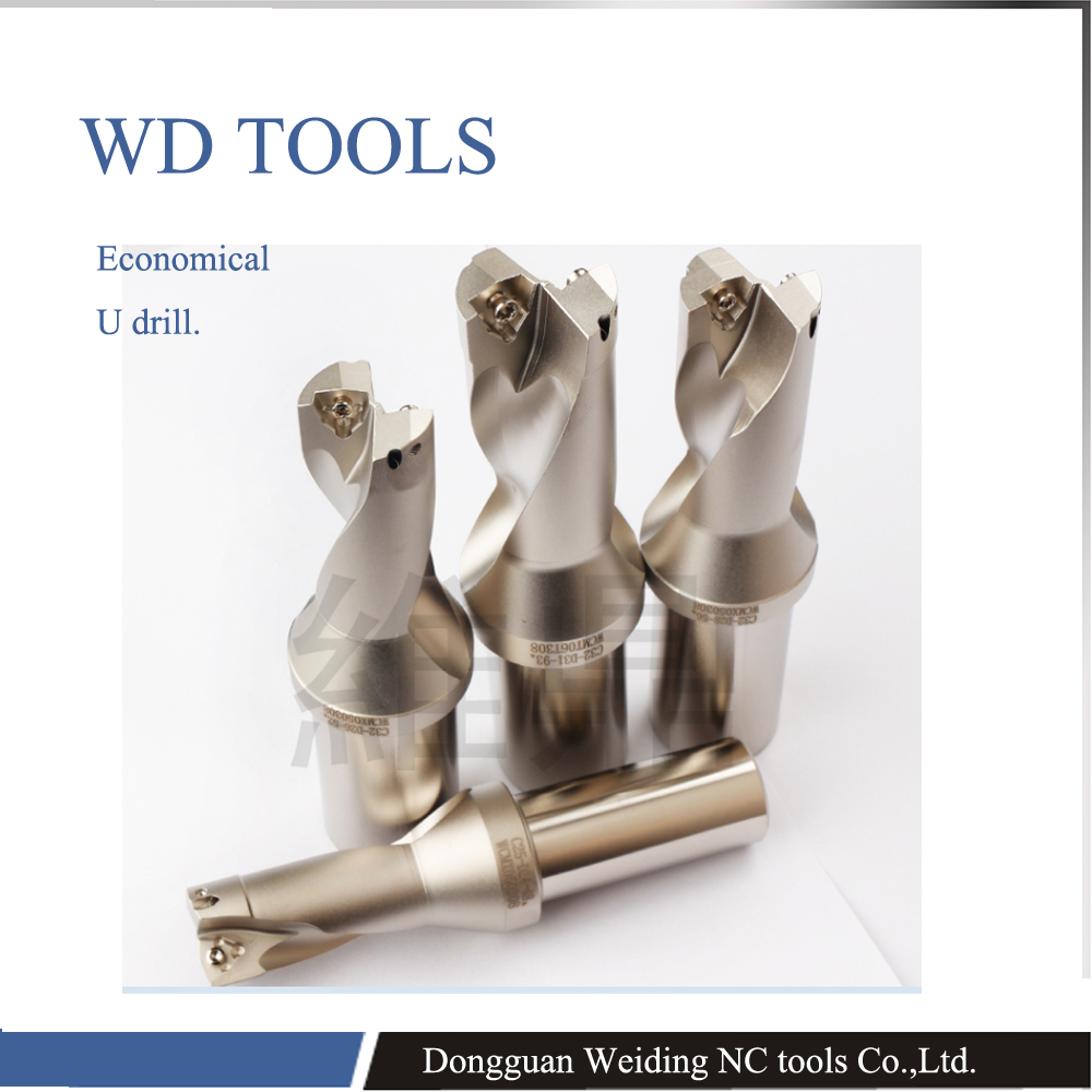 Indexable U drilling tools with match WCGX06T308 31mm -41.5mm XP32 WC06  cnc Drill Type 2D Times diameters