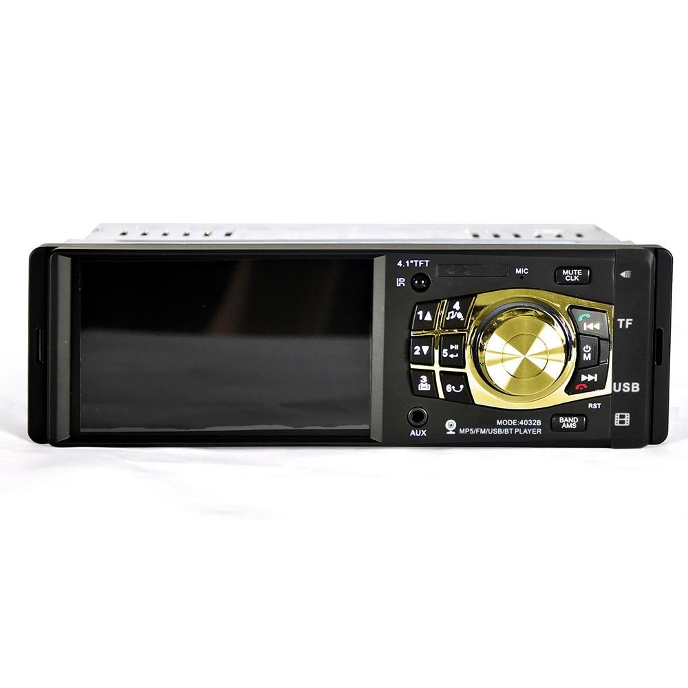 Autoradio MP4 Audio lecteur de musique Bluetooth voiture stéréo Audio Bluetooth mains libres FM Aux entrée récepteur SD USB MP4 FM modulateur