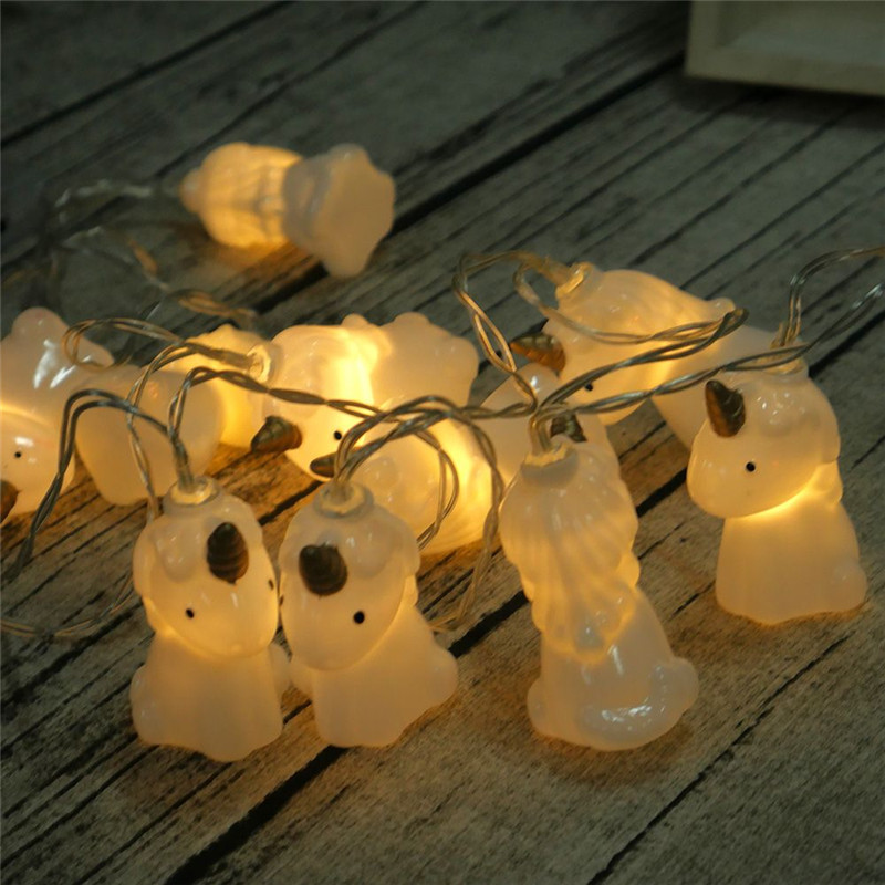 1.5M 10Leds Unicorn Lamp Battery Powered Colorful LED String Light Night Light Toy For Christmas Party Decorative Lamp