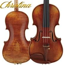 Italia christina violín v09 maestro violín violino 4/4 italiano antiguos de gama alta profesional instrumento musical violín arco, colofonia